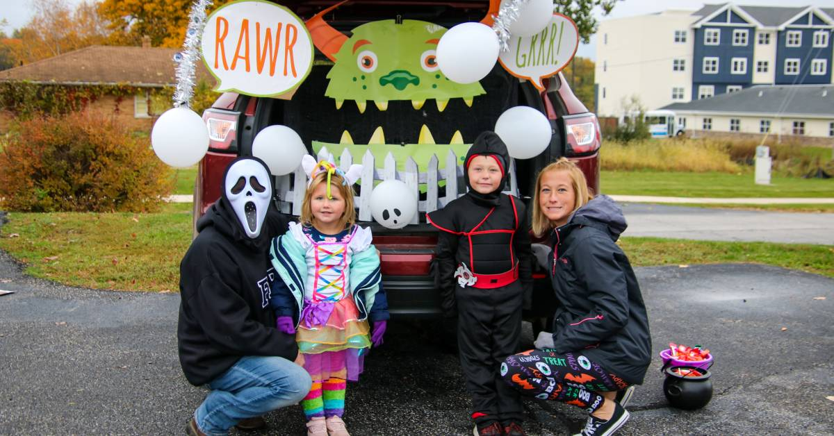 Porter Regional Hospital parking lot transforms into Halloween wonderland for annual Trunk-or-Treat festival