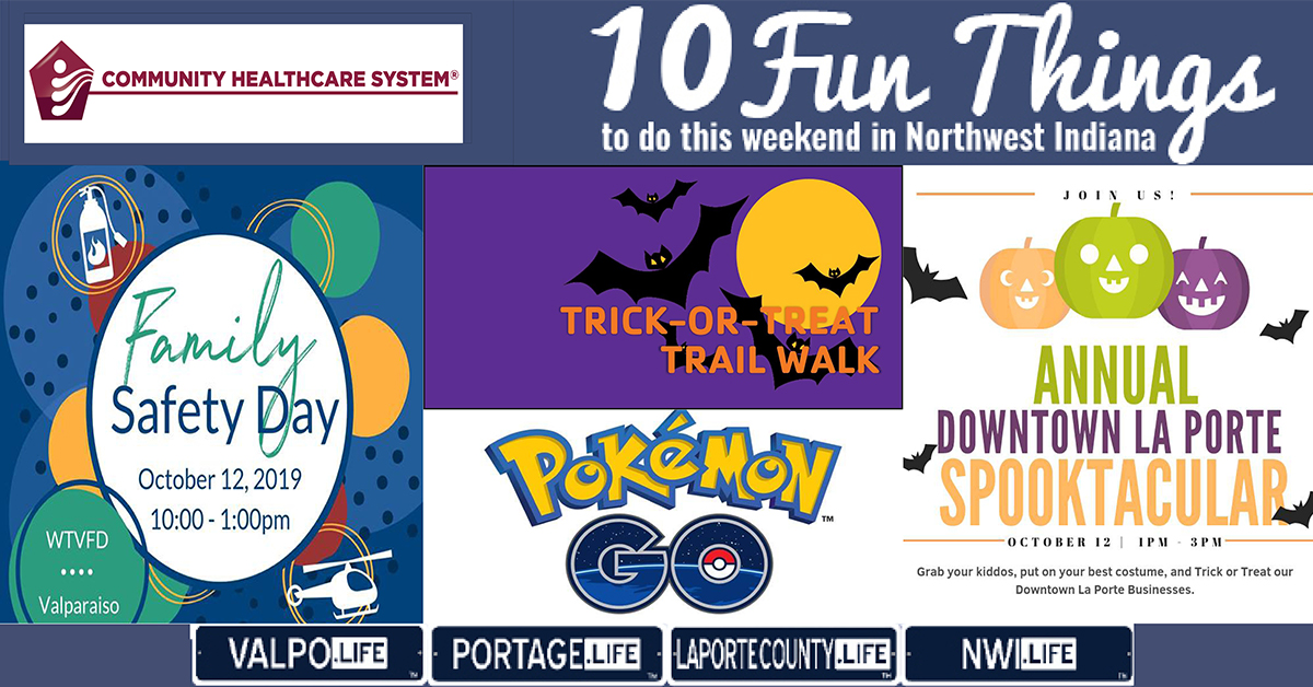 10 Fun Things to do in NWI this weekend October 11-13, 2019