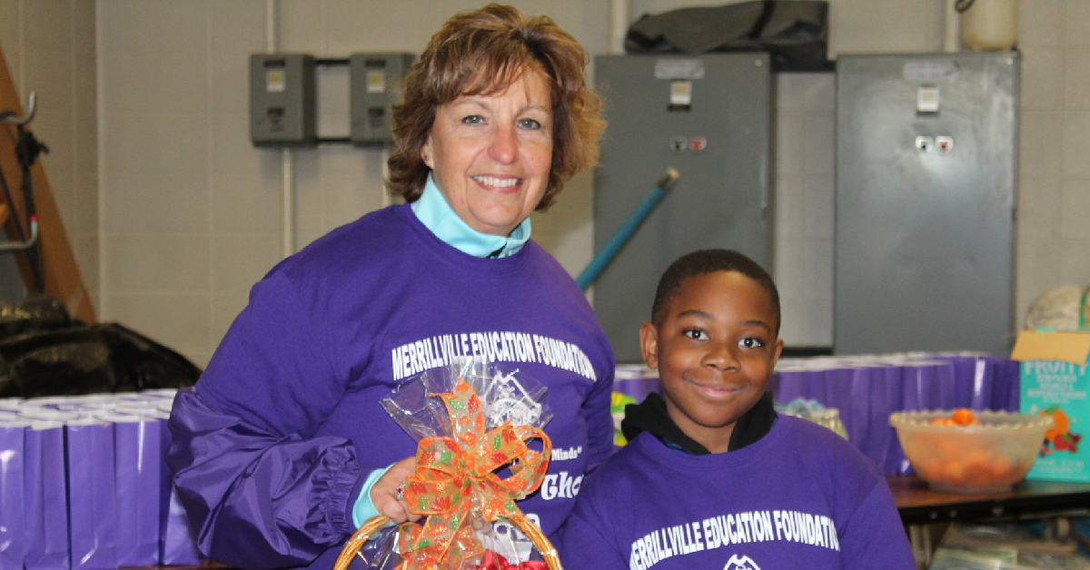 Student, school recognized at Merrillville Education Foundation event