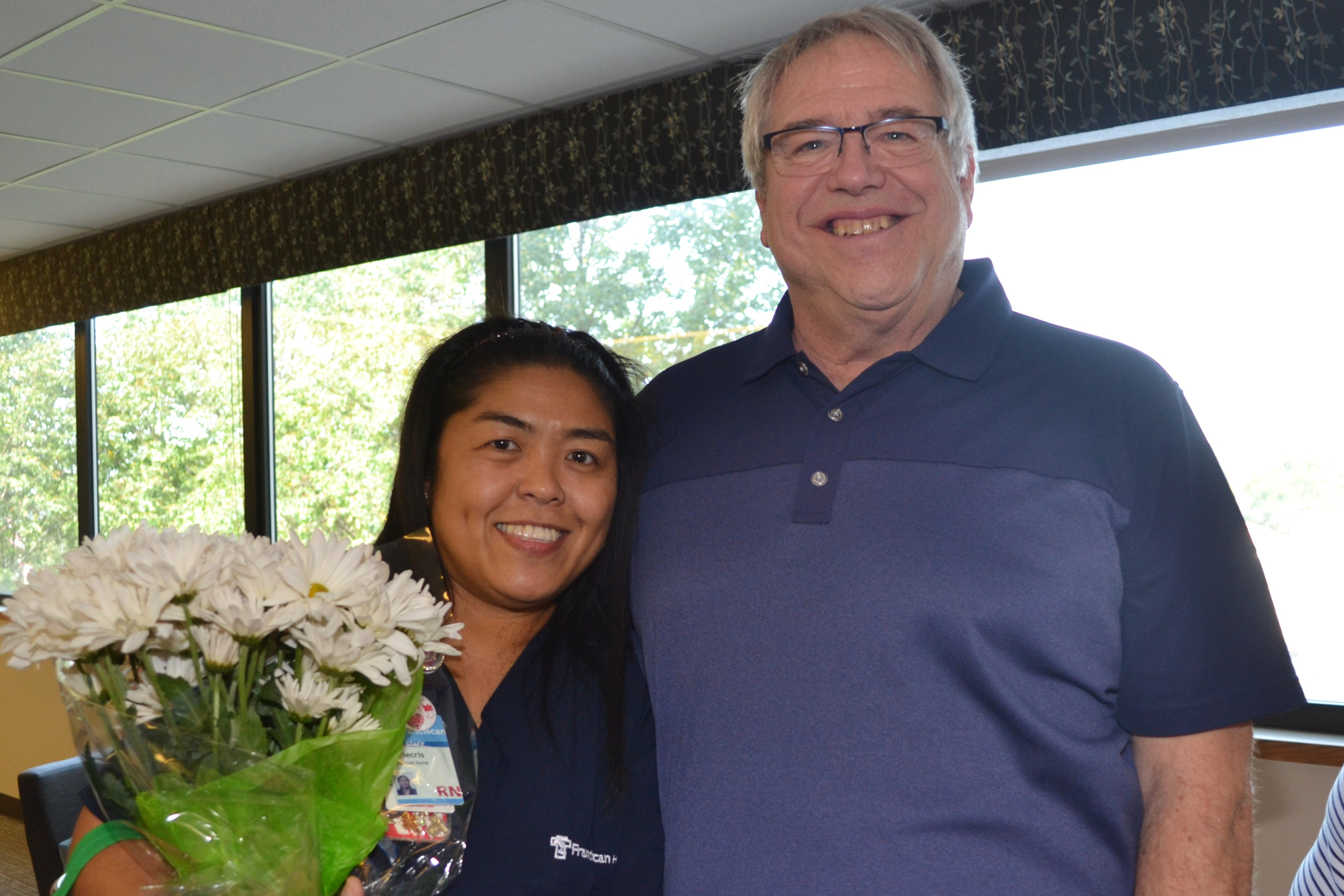 Franciscan Health Dyer nurse given hospital's first DAISY Award