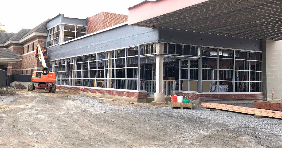 Construction progresses at Franciscan Beacon Hospital; Franciscan Physician Network dedicates La Porte location