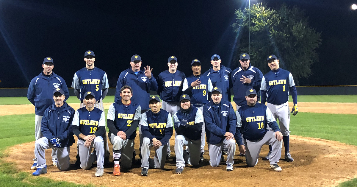 Outlaws win Over The Hill adult baseball championship