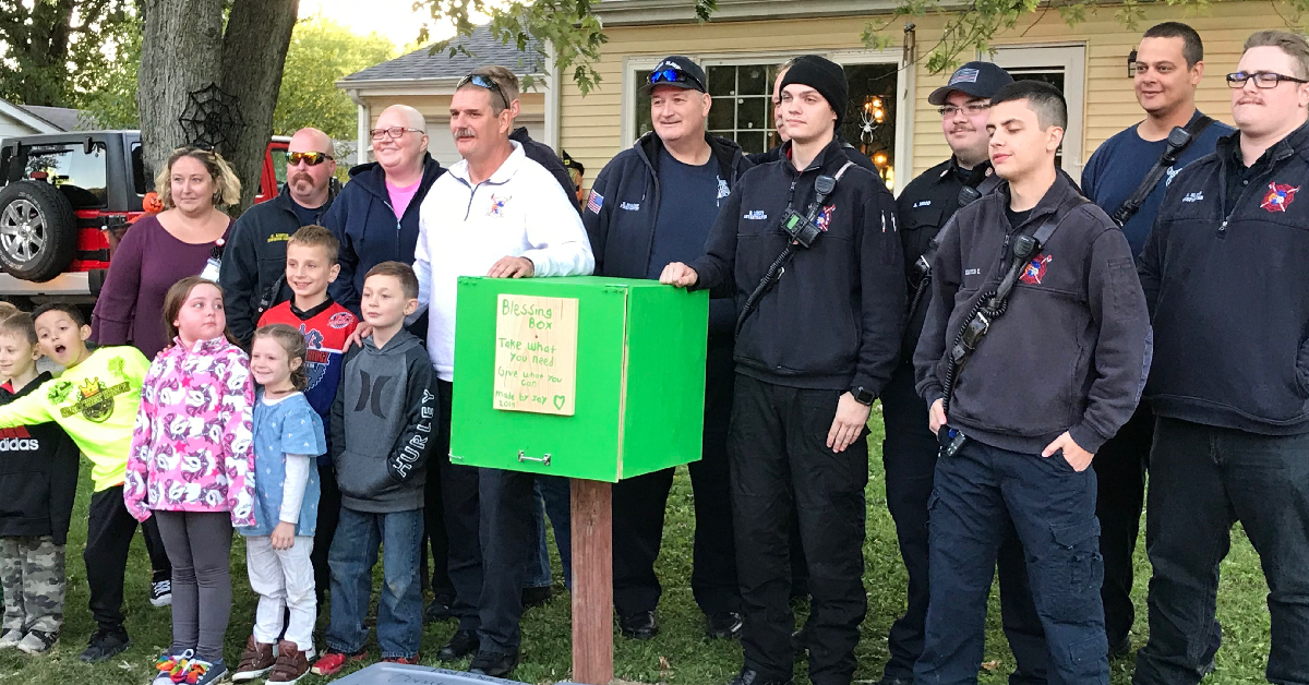 South Haven Fire Department recognizes boy who builds 'blessing box' with birthday money