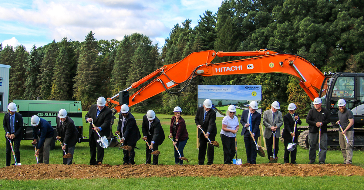 Michigan City and Sullair Hitachi celebrate historic expansion ground-breaking ceremony
