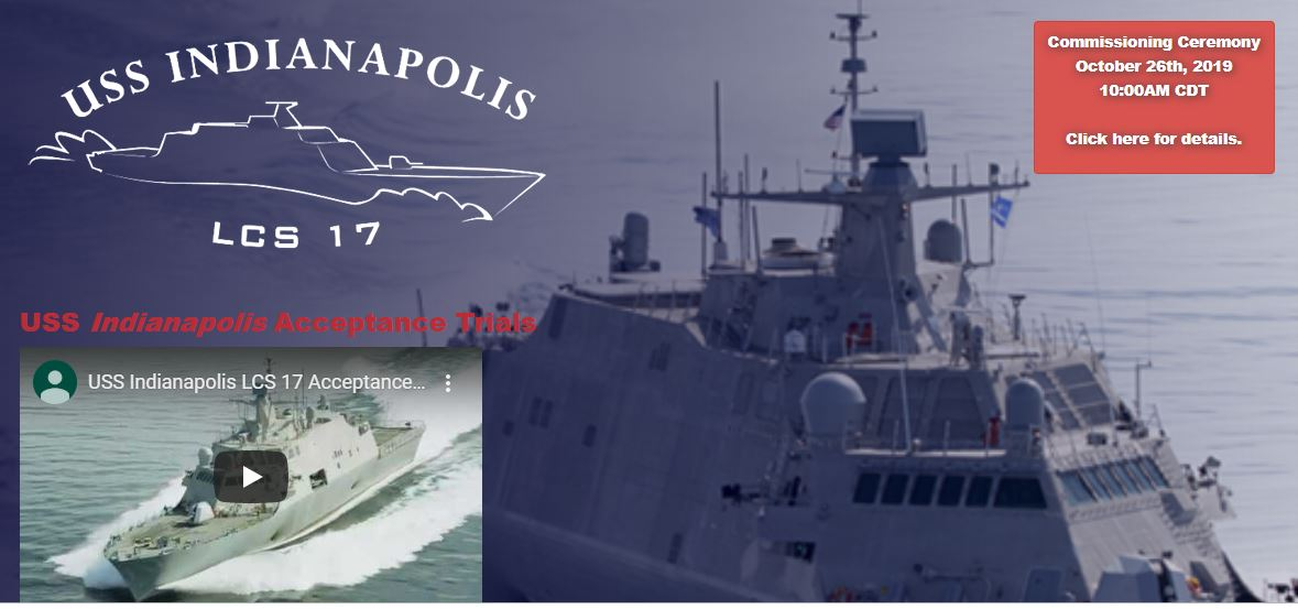 USS Indianapolis Commissioning Ceremony