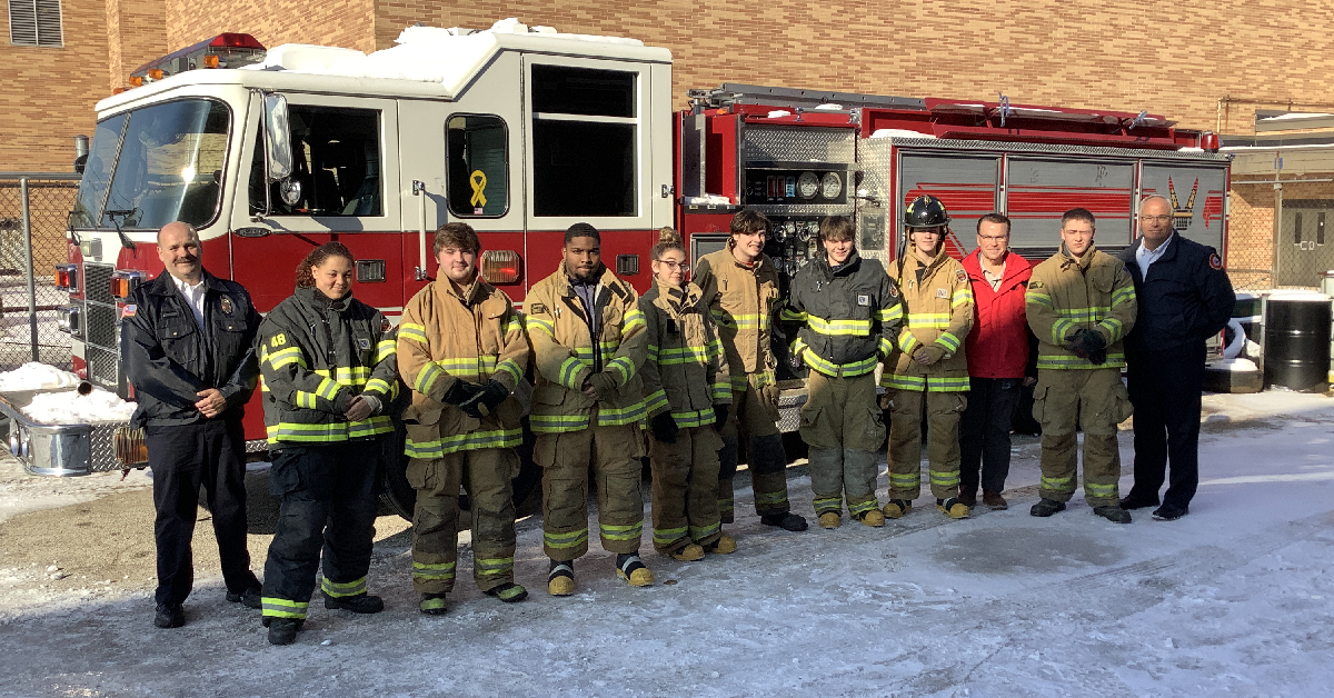 Fire Science Students benefit from city's used fire truck