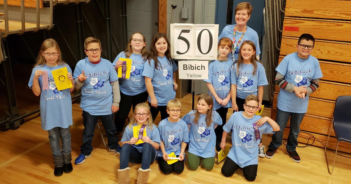 Bibich Spell Bowl team earns first place