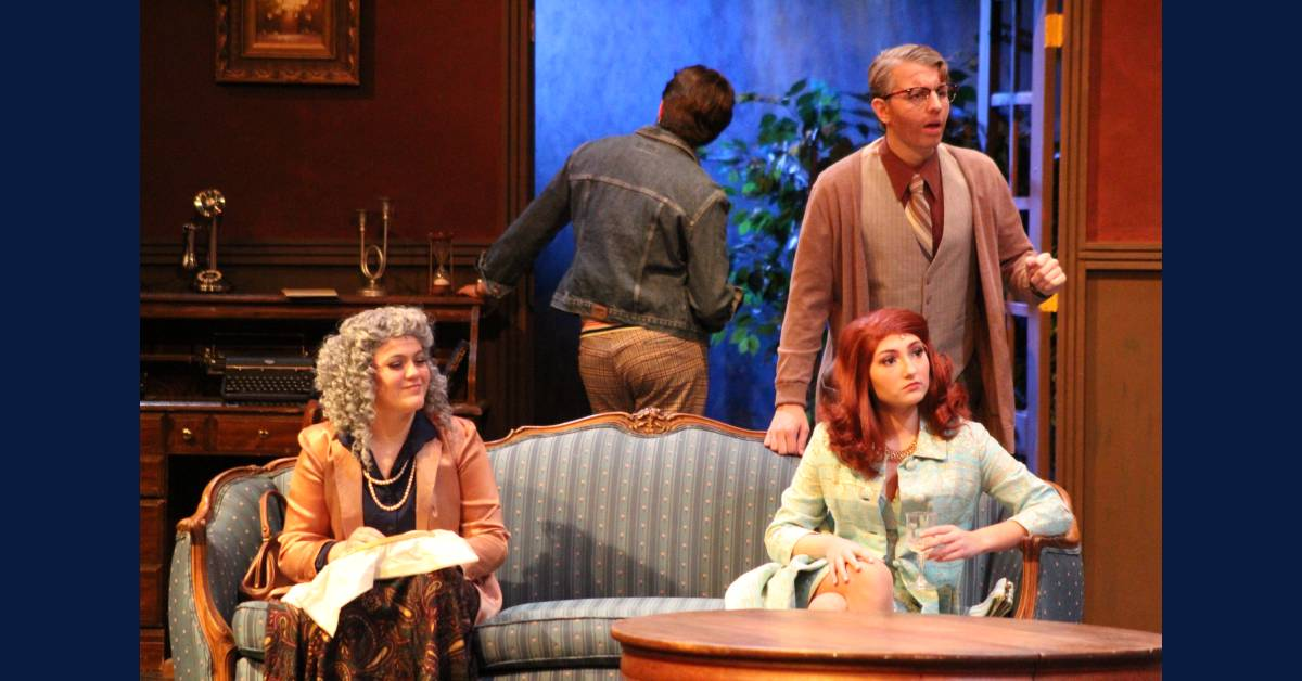 """Crown Point High School theatre performs """"But Why Bump Off Barnaby?"""""""