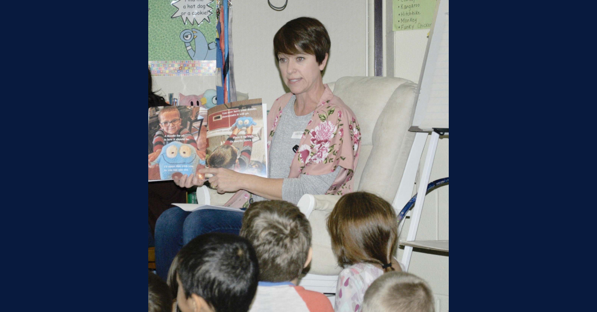 Author visits Bailly Elementary
