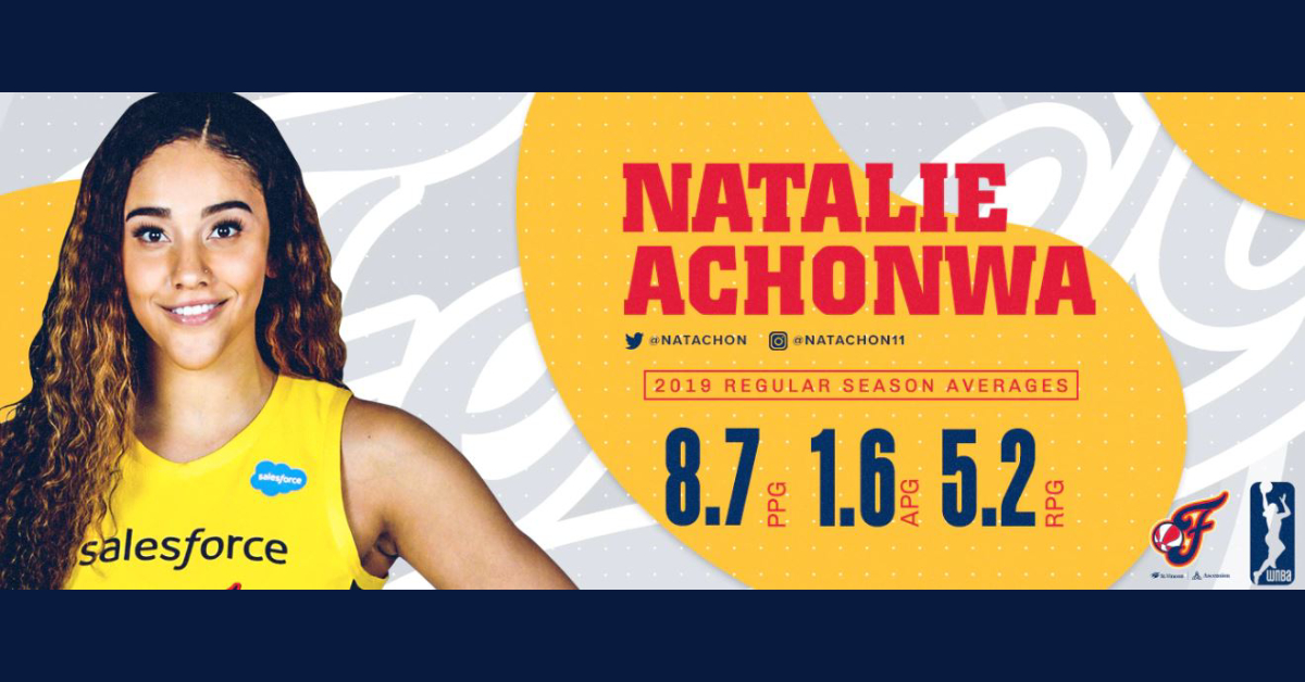 Indiana Fever's Natalie Achonwa donates to Valpo's Dressed for School nonprofit