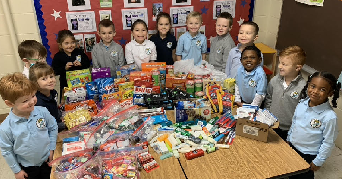 St. Mary's preschoolers send military care packages