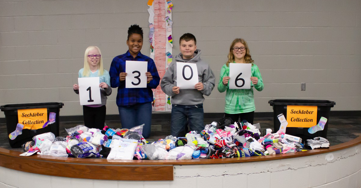 Thomas Jefferson Elementary students participate in Socktober initiative
