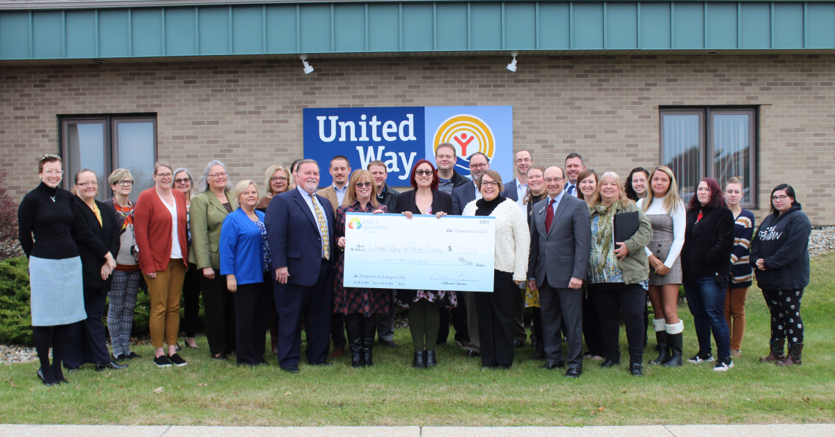 Early Learning Indiana grants United Way of Porter County $10,000 for Early Education Initiatives