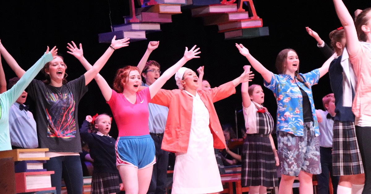 Its curtains up for Valparaiso High School's opening night: Matilda The Musical