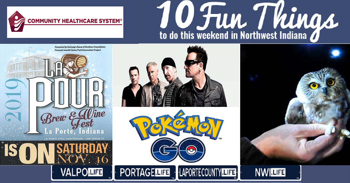 10 FUN THINGS TO DO IN NWI THIS WEEKEND November 15-17, 2019