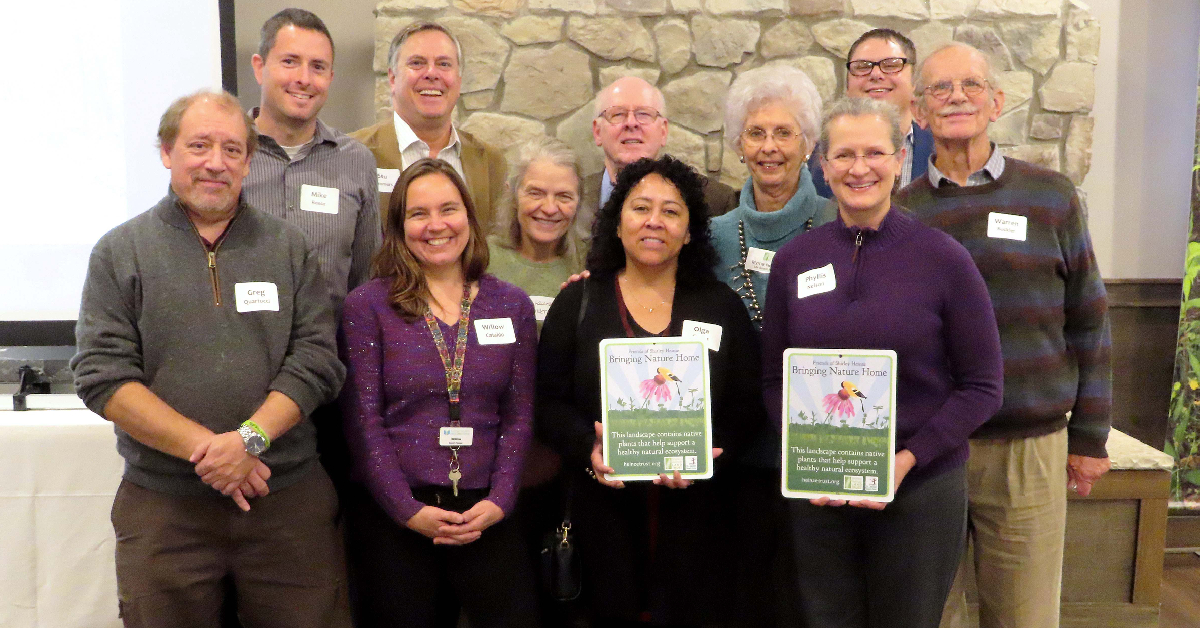 Valparaiso Public Library  recognized for native planting project at Shirley Heinze Land Trust partnership luncheon