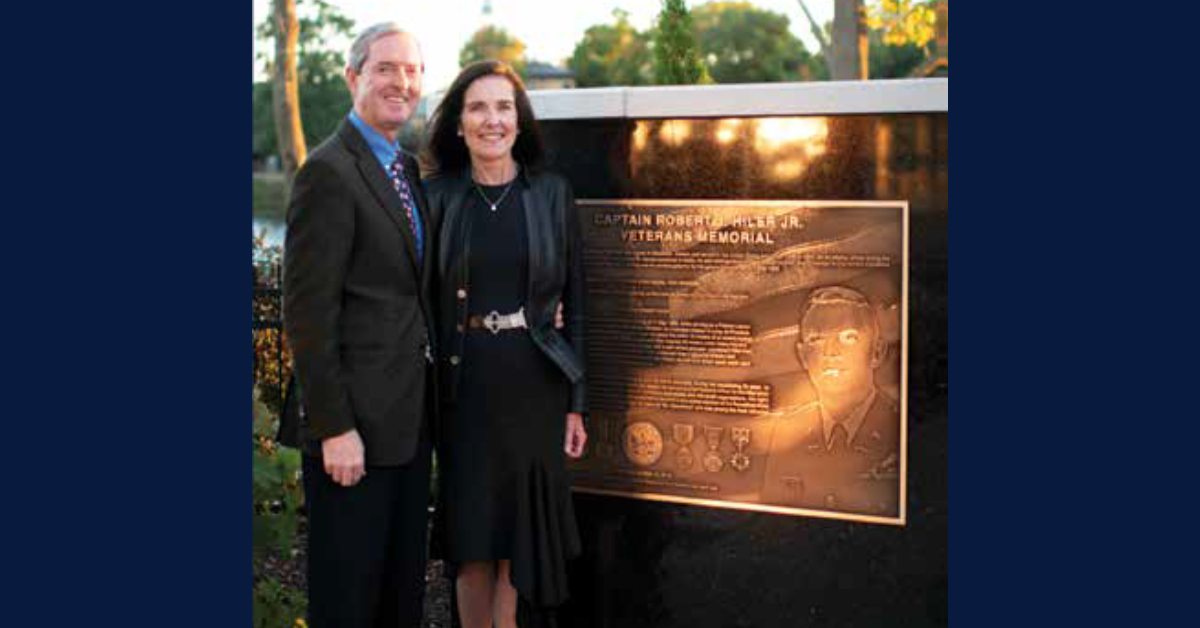Center for Hospice Care's Veterans Memorial rededicated as the Captain Robert J. Hiler Jr. Veterans Memorial