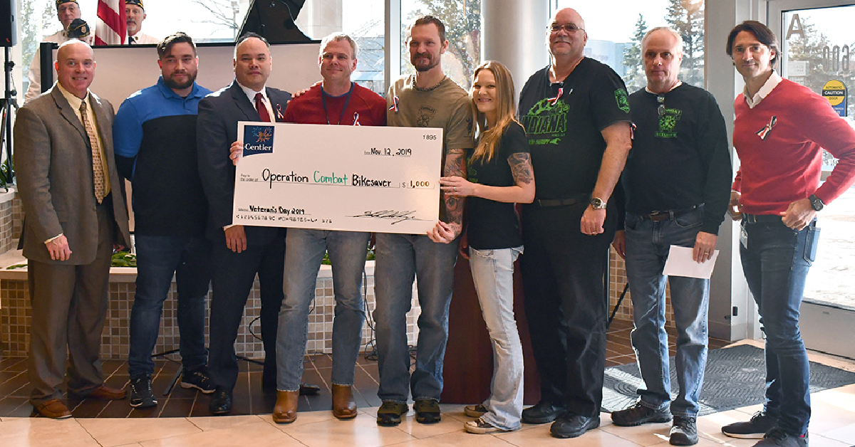 Centier Bank commemorates Veterans Day, donates $1,000 to local veterans nonprofit