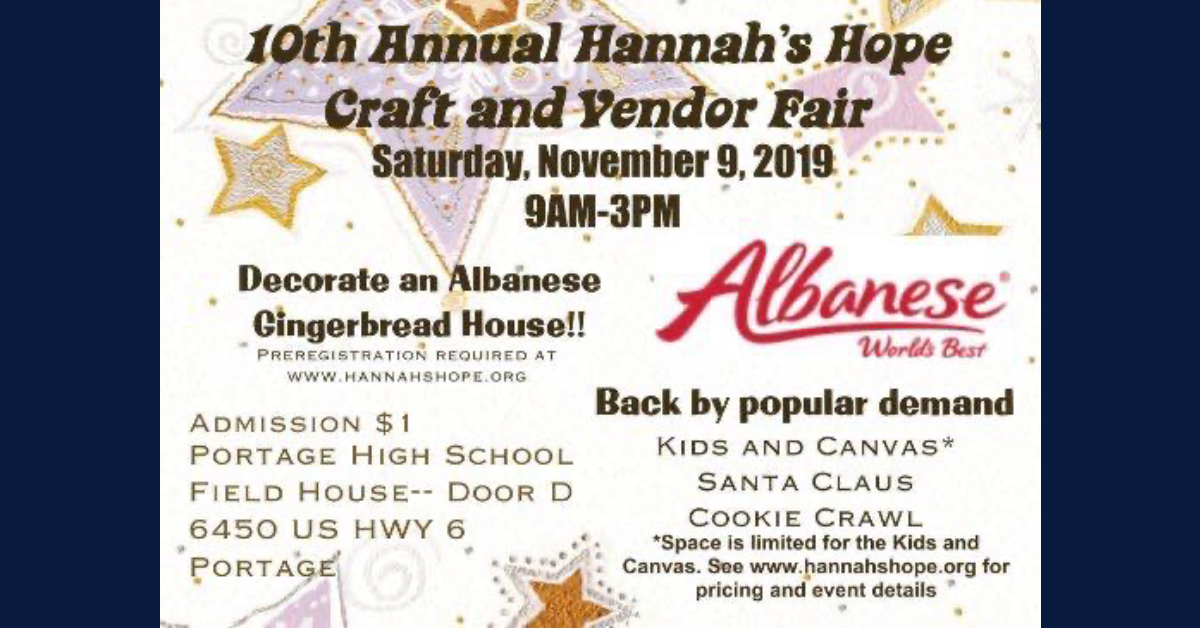 Hannah's Hope craft and vendor fair celebrates 10 years of holiday fun this weekend