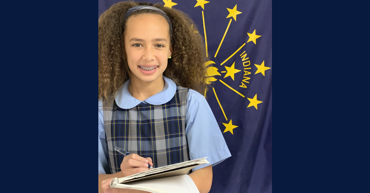St. Mary's 4th Grader receives honor from State of Indiana