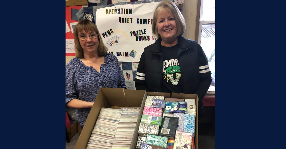 Memorial Elementary partners with Operation: Quiet Comfort