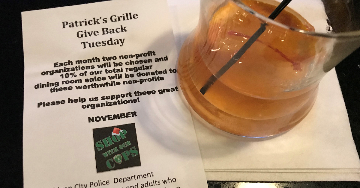 Tuesday Give Back events at Patrick's Grille create happy holidays for local community