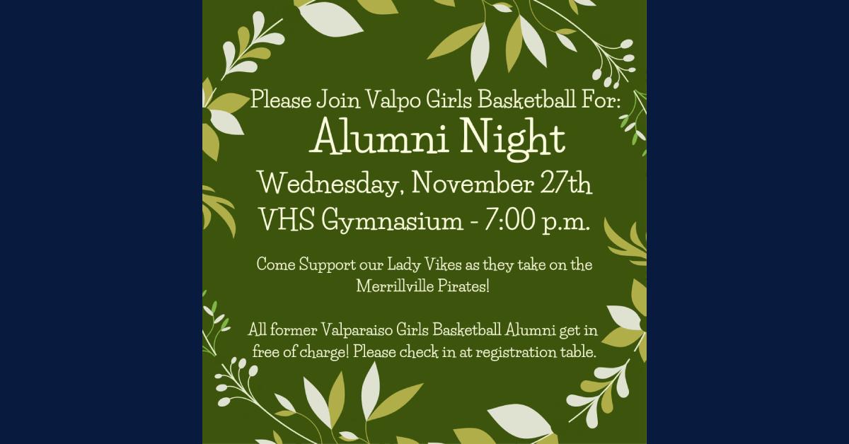 Valpo Girls Basketball Alumni Night