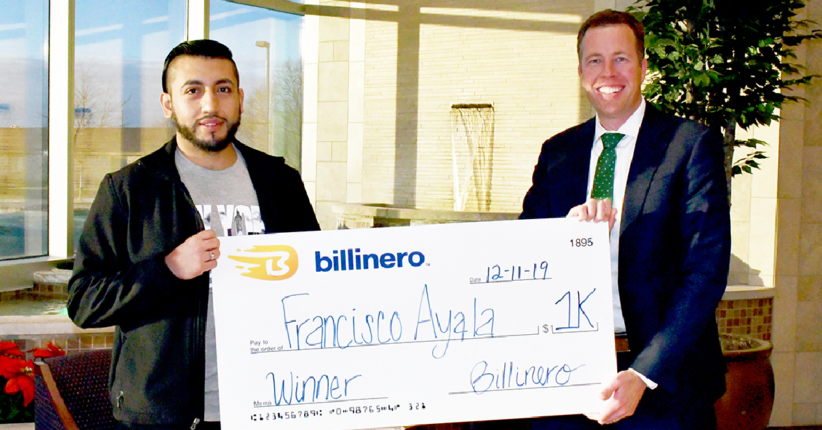 Billinero Selects November 2019 $1,000 Drawing Winner