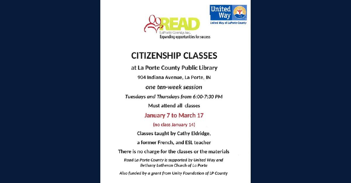 READ LaPorte County citizenship classes