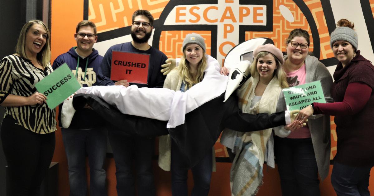 Team La Porte County Life saves the world in Escape Room LaPorte