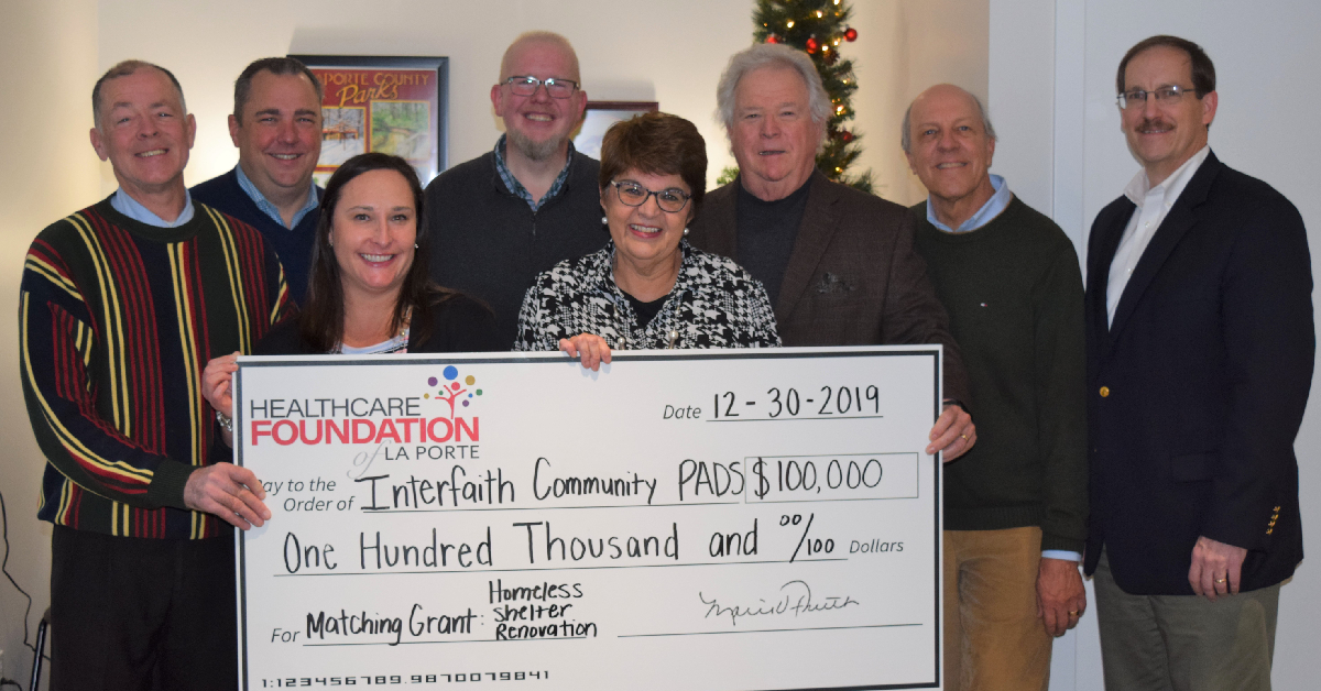 Healthcare Foundation of La Porte matches $100,000 in donations for Interfaith Community PADS