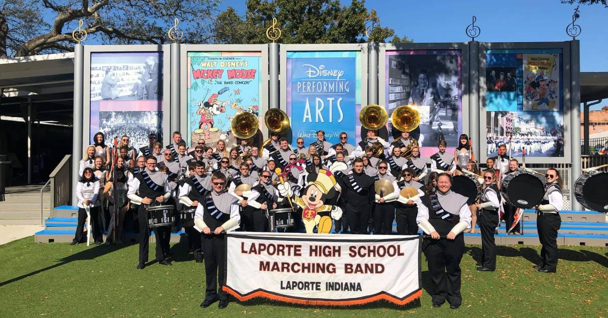 #1StudentNWI: La Porte Marching Band takes Disney