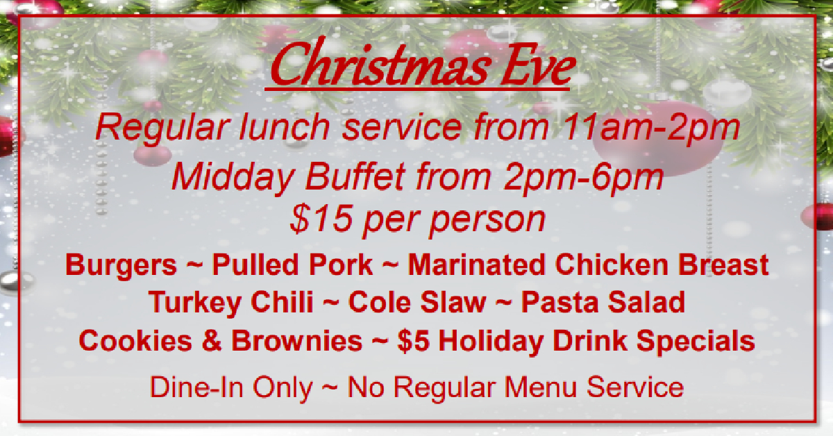 Christmas Eve at Patrick's Grille