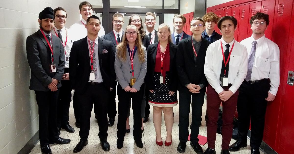 Portage High School participates in BPA contest