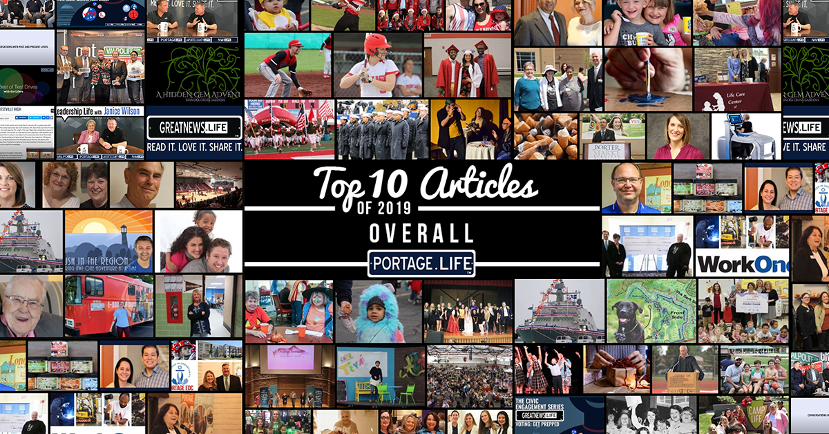 Top 10 overall on Portage.Life in 2019