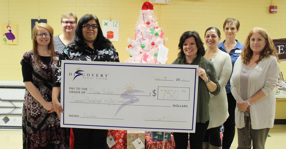Rittenhouse Village at Portage presents holiday donation to local senior centers