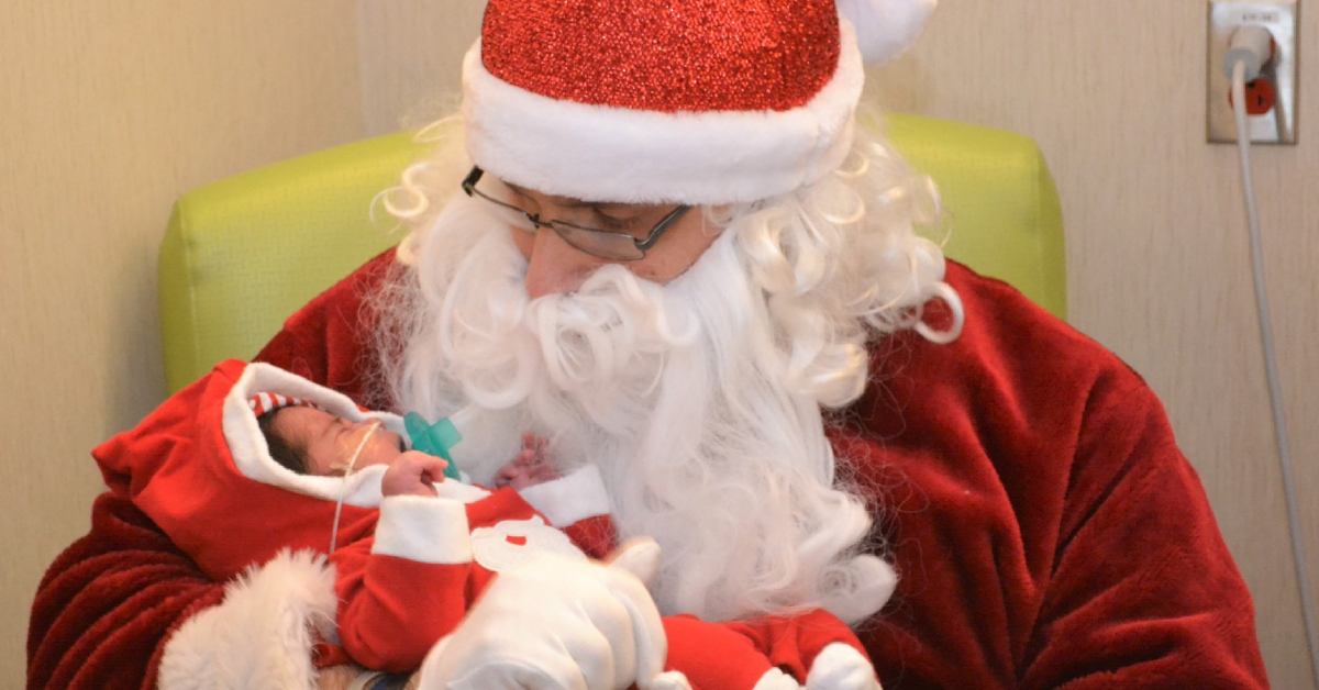 'Santa' visits Franciscan Health Crown Point NICU on Christmas Eve