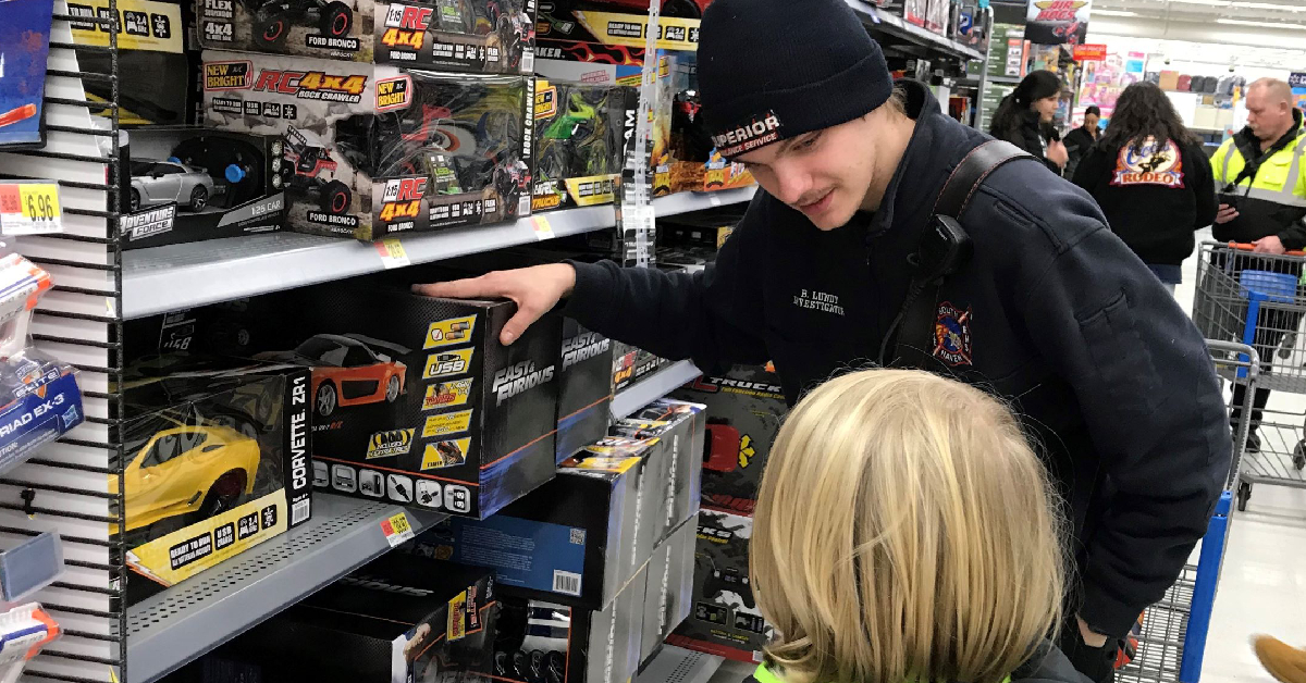 South Haven Fire Department takes 20 youngsters on early shopping trip