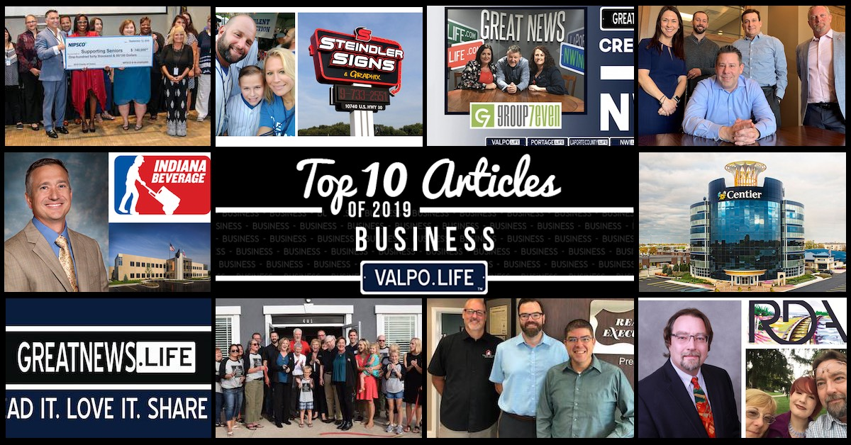 Top 10 business articles on Valpo.Life in 2019