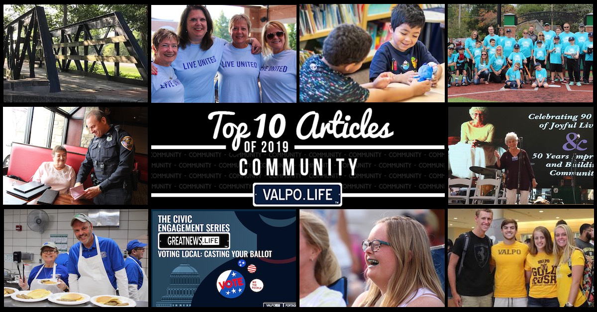 Top 10 community articles on Valpo.Life in 2019