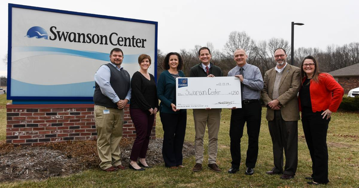 Centier Bank donates to Swanson Foundation, celebrates six years of business partnership