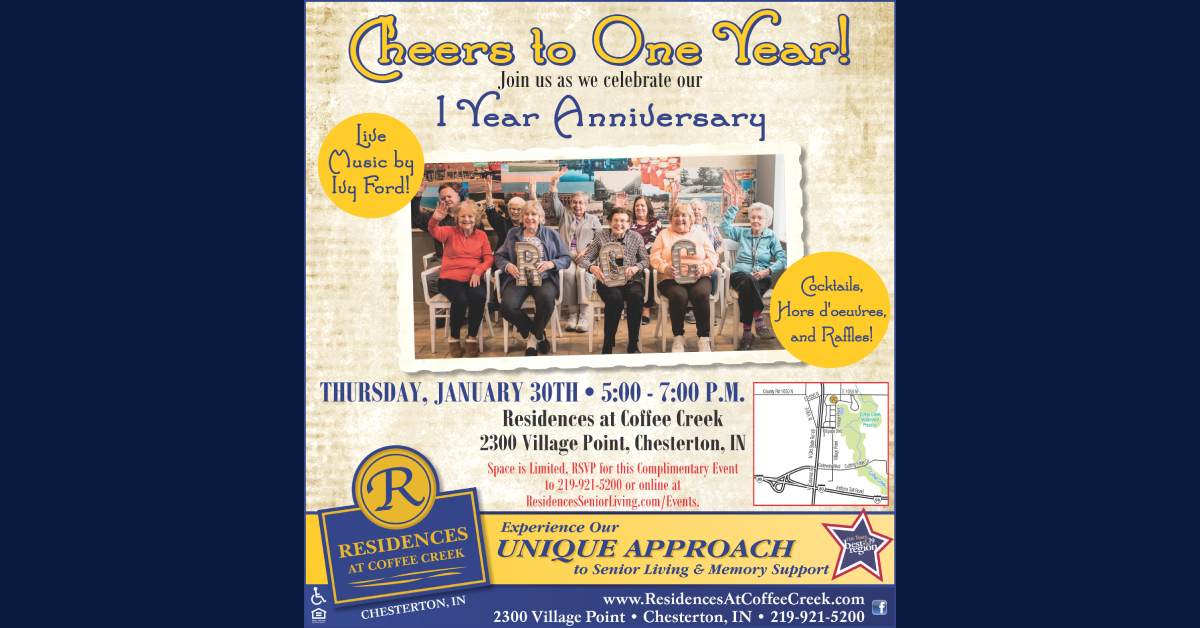 Join Residences at Coffee Creek for the celebration of their one year anniversary!
