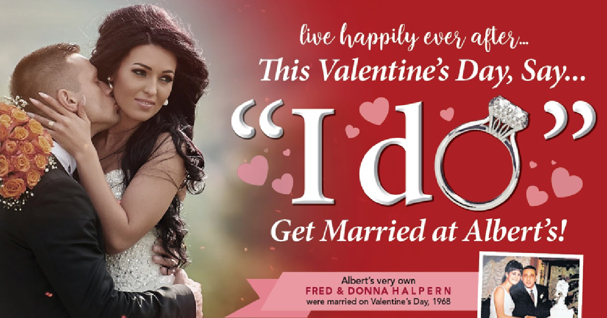 "Take the stress out of wedding planning with the ""I Do"" event at Albert's Diamond Jewelers"