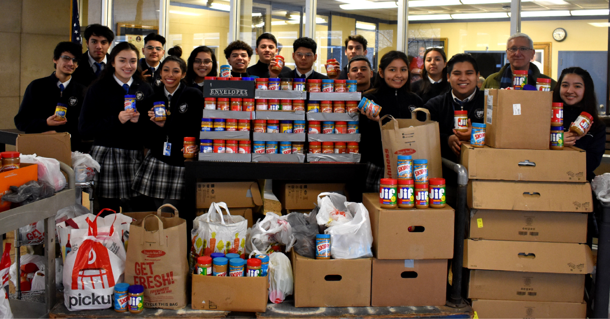 Bishop Noll's annual peanut butter drive exceeds goal