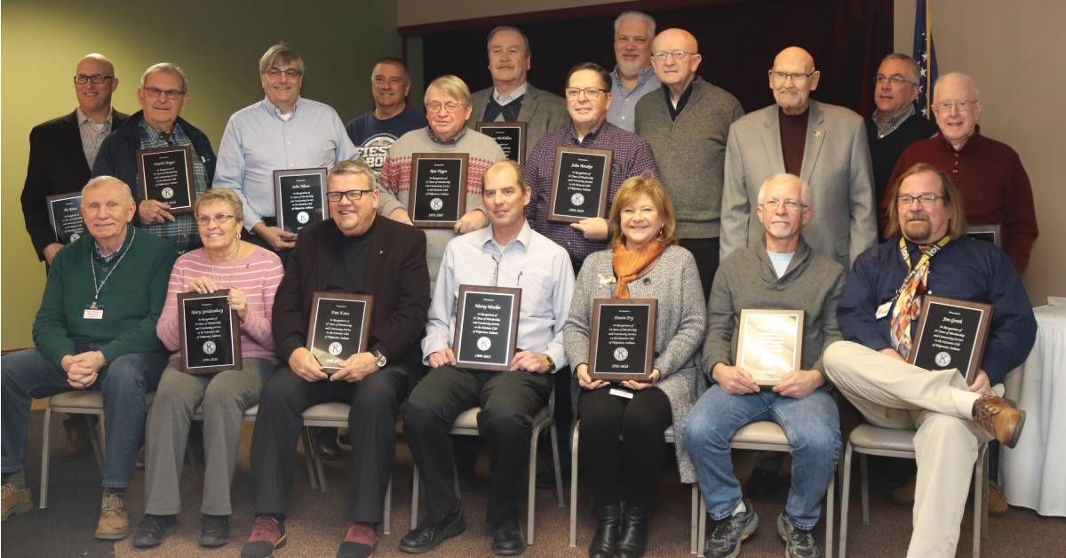 Kiwanis Club of Valparaiso presents 25-year members with Legacy Awards