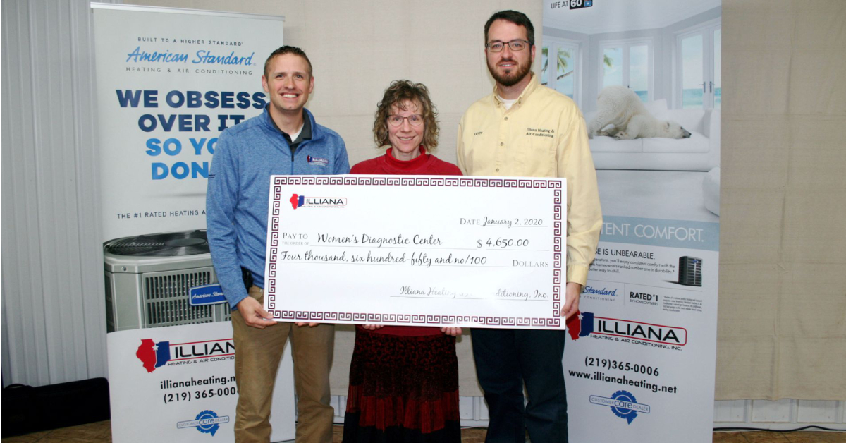 Illiana Heating & Air Conditioning joins forces with Community Hospital's Women's Diagnostic Center