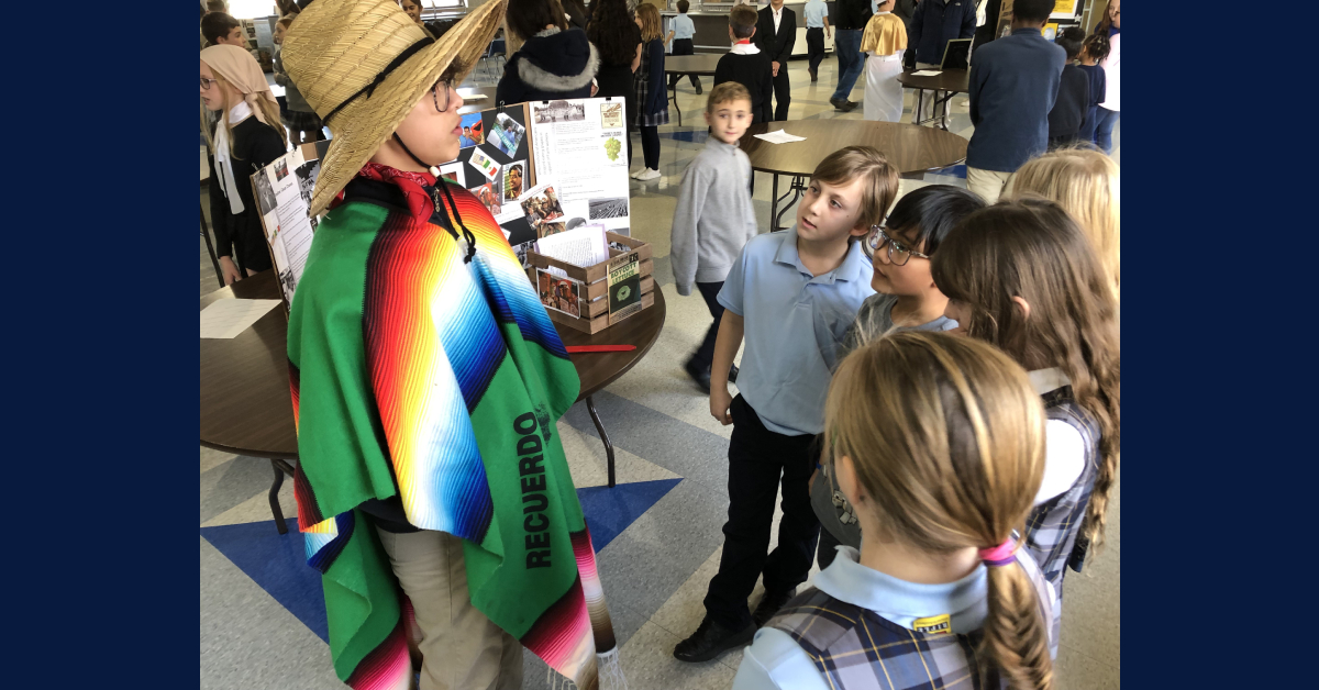 St. Mary Catholic Community School students put on living biography museum