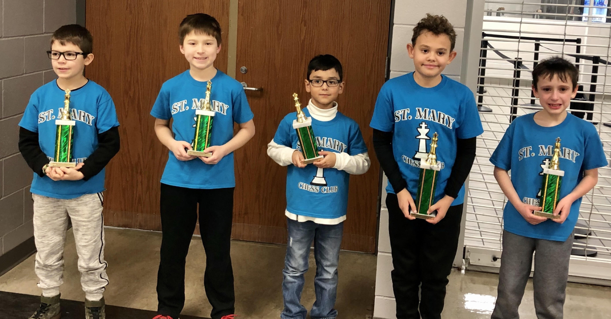 St. Mary's School in Crown Point represents Region in state chess tournament