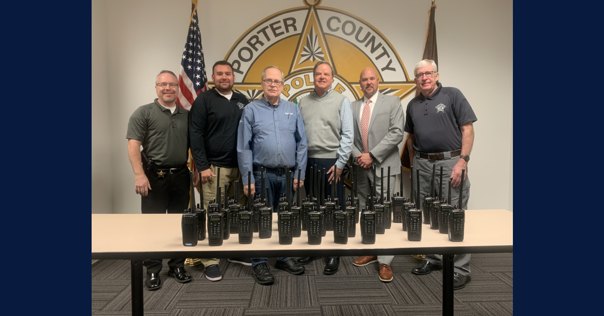 Porter County Sheriff's Office donates radios to Boys & Girls Clubs of Greater Northwest Indiana