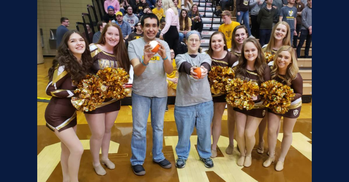 Allegius shares some hoops love with Opportunity Enterprises and Valparaiso University